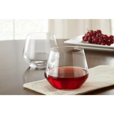 Genoa 18.5 oz. Lead-Free Crystal Stemless Wine Glasses (Set of 8)