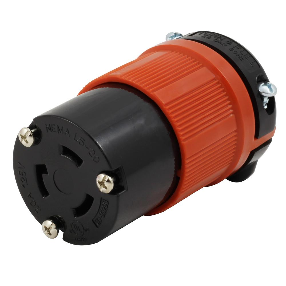 15 Amp NEMA L5-15R Locking Female Connector Assembly by AC WORKS®