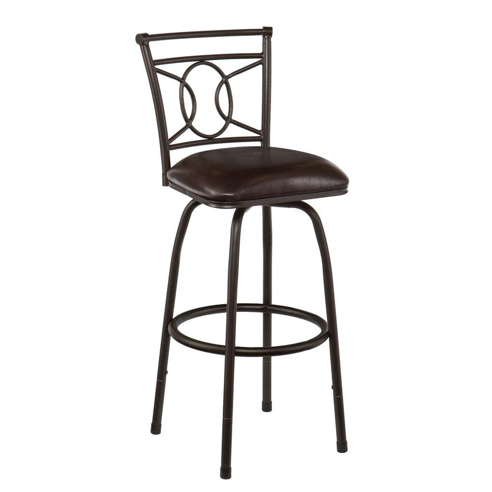 Southern Enterprises Torrance 30 in. Adjustable Height Bar Stool