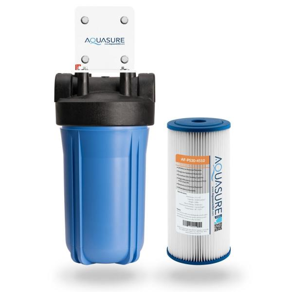 Fortitude 30-Micron High Flow Pleated Sediment Whole House Water Filtration System