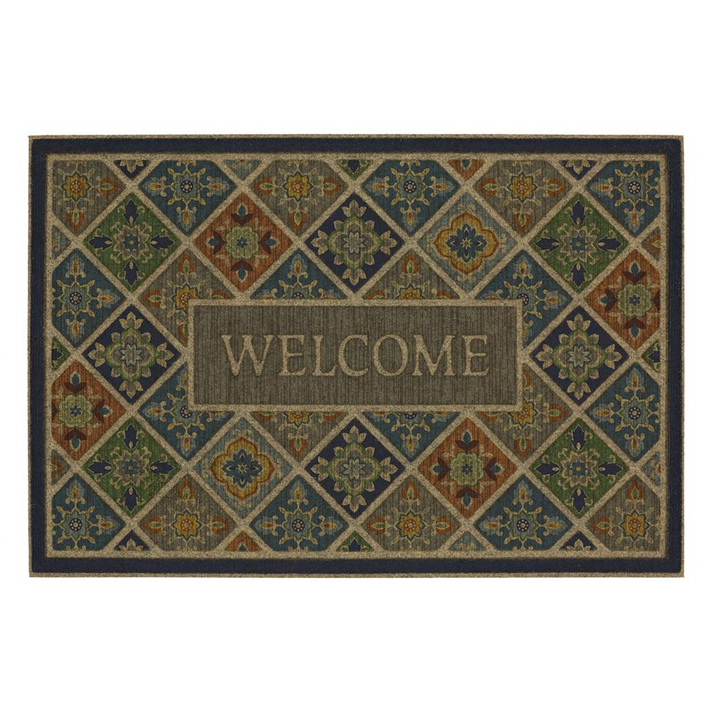Mohawk Home Tile Garden Welcome Impressions 24 in. x 36 in. Door Mat  sc 1 st  Home Depot : mat door - pezcame.com