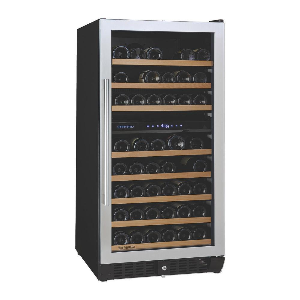 N'FINITY PRO M 94-Bottle 23.75 in. Dual Zone Freestanding Wine Cellar