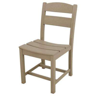 Classics Sand All-Weather Plastic Outdoor Dining Side Chair