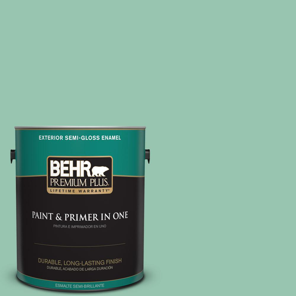 1-gal. #M420-4 Jade Mountain Semi-Gloss Enamel Exterior Paint
