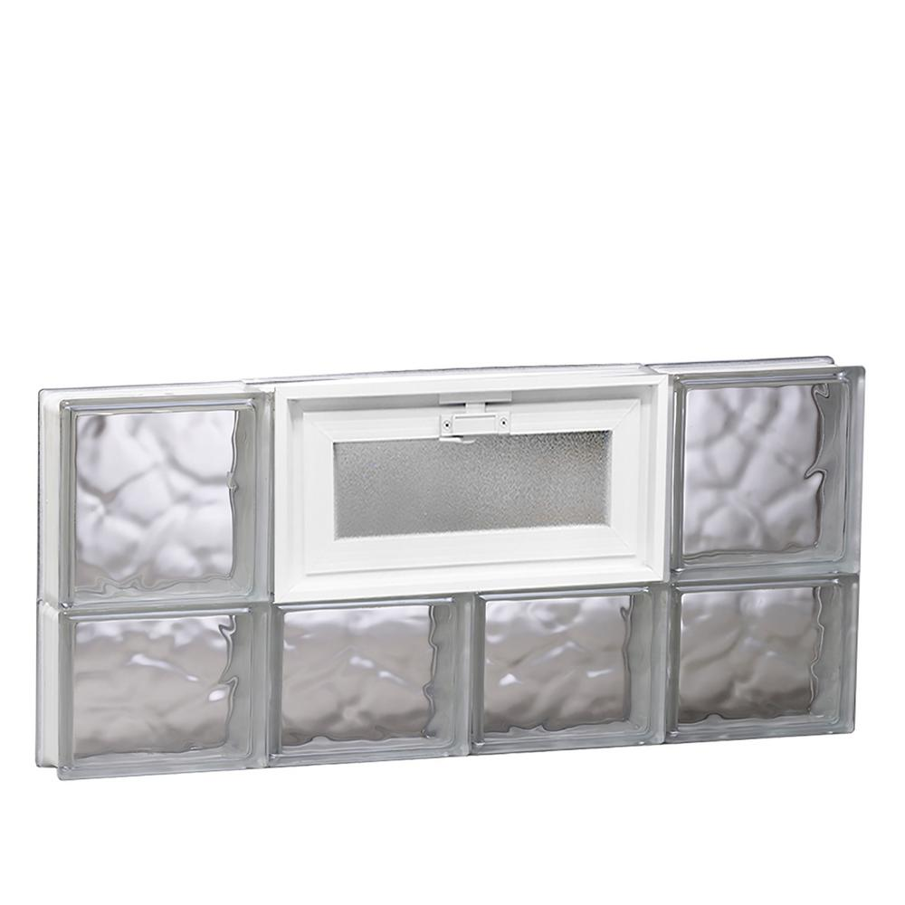 Clearly secure 31 in x 13 5 in x in wave pattern for Where to buy glass block windows