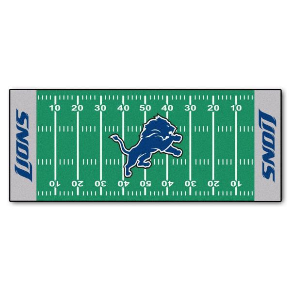 Detroit Lions 3 ft. x 6 ft. Football Field Rug Runner Rug