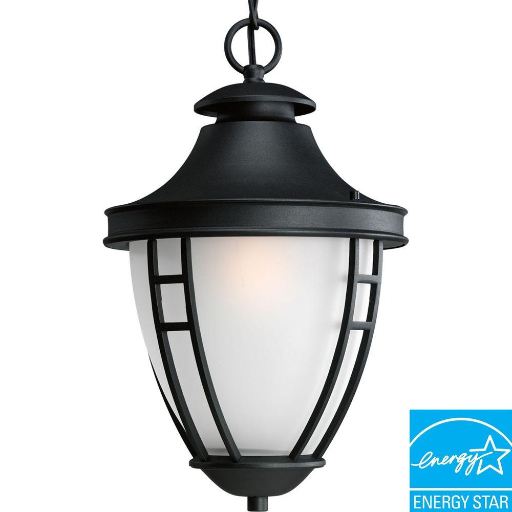 Progress Lighting Fairview Collection Textured Black 1-light Hanging Lantern-DISCONTINUED