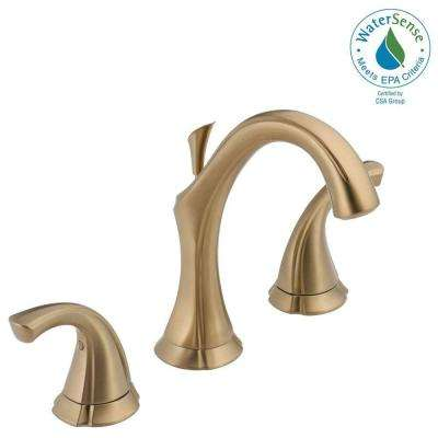 Addison 8 in. Widespread 2-Handle Bathroom Faucet with Metal Drain Assembly in Champagne Bronze