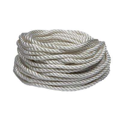 1/4 in. x 50 ft. White Twisted Nylon and Polyester Rope