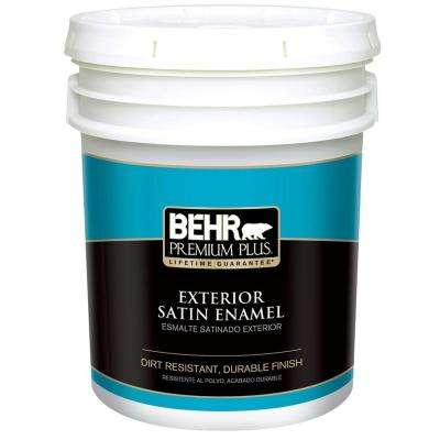 5 Gal. Ultra-Pure White Satin Enamel Exterior Paint