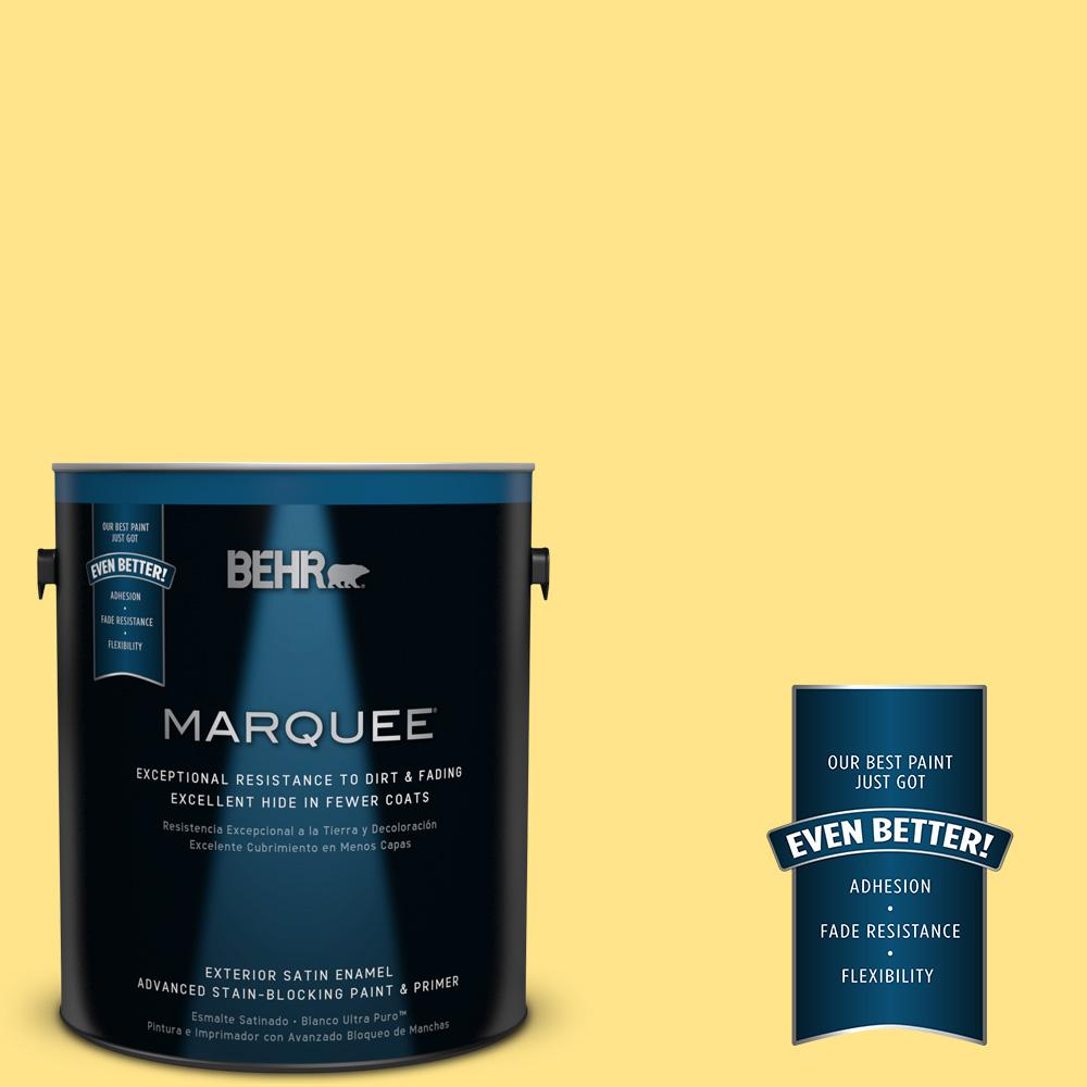 BEHR MARQUEE 1-gal. #370A-3 Bicycle Yellow Satin Enamel Exterior Paint