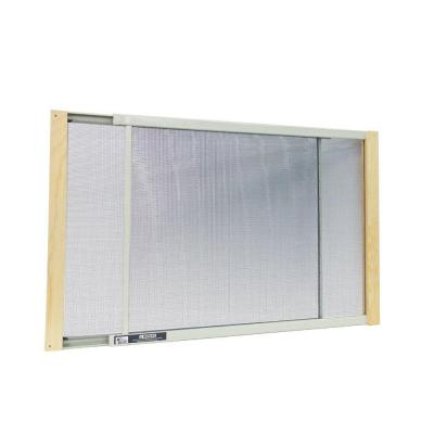 21 - 37 in. W x 18 in. H Clear  Wood Frame Adjustable Window Screen