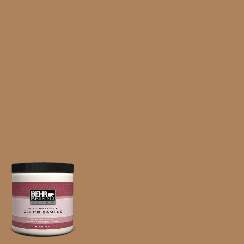 BEHR Premium Plus Ultra 8 oz. #S260-6 Circus Peanut Interior/Exterior Paint Sample