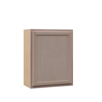 Hampton Assembled 24x30x12 in. Wall Kitchen Cabinet in Unfinished Beech