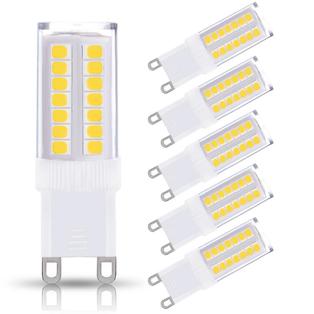 40-Watt Equivalent 5W Non-Dimmable LED Bulb G9 Base in Daylight White 6000K (5-Pack)