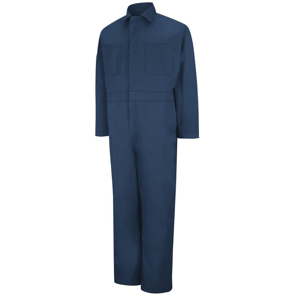 Red Kap Men's Size 36 Navy Twill Action Back Coverall