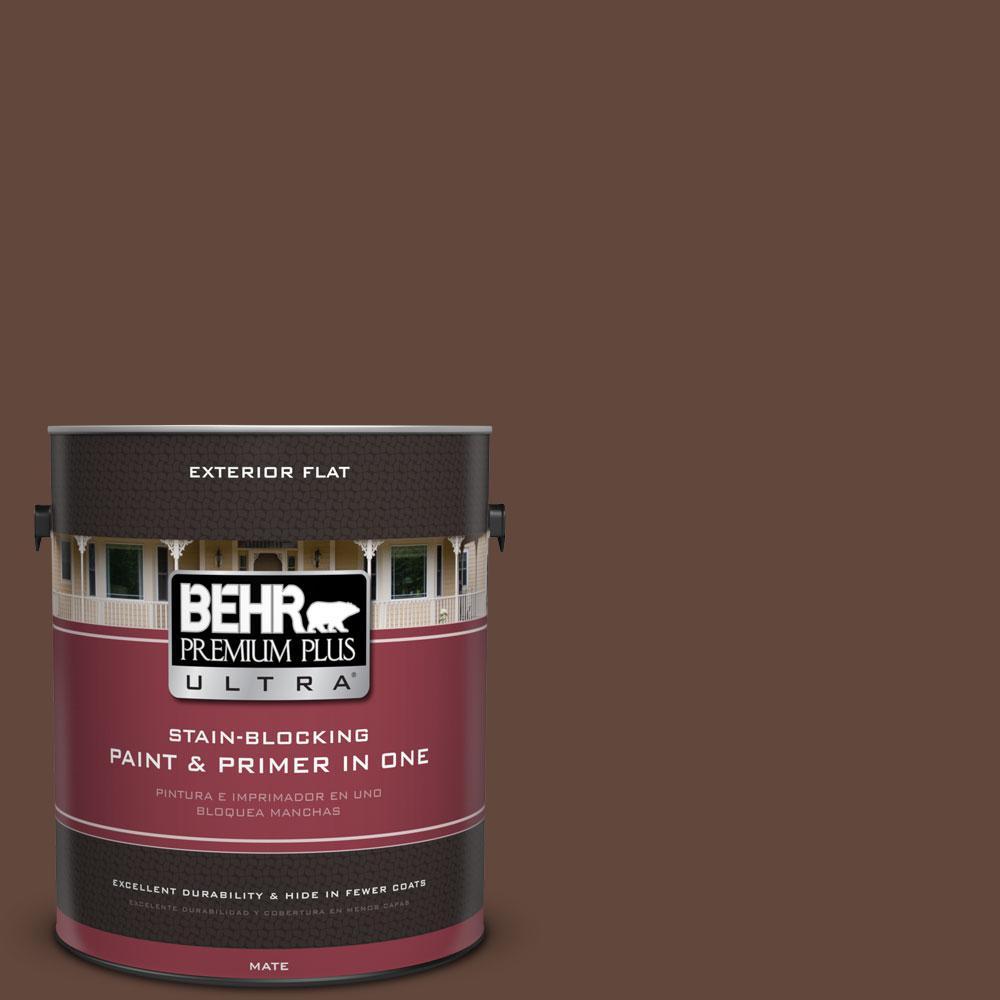 BEHR Premium Plus Ultra 1-gal. #S-G-760 Chocolate Coco Flat Exterior Paint
