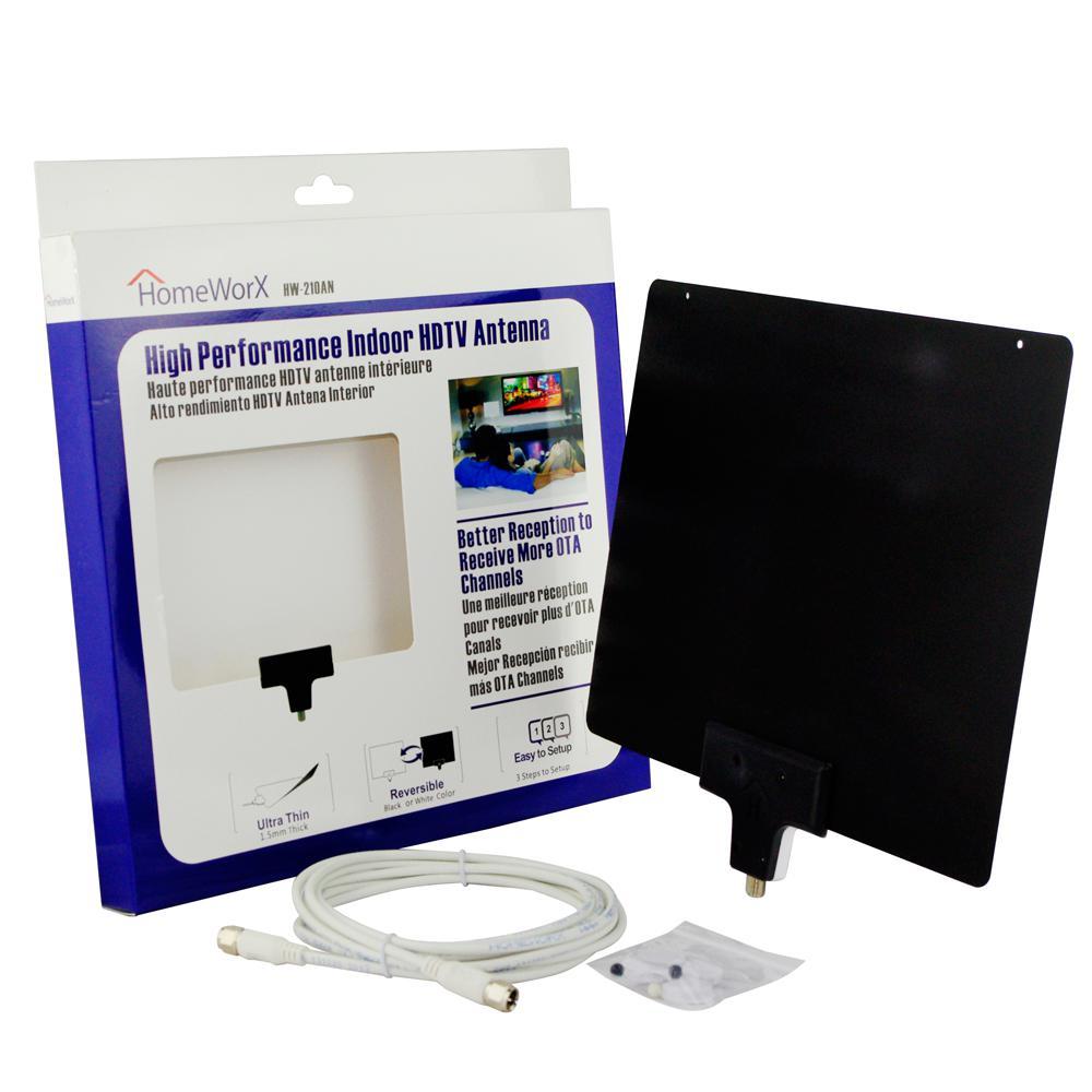 Homeworx High Performance Ultra-Thin Indoor HDTV Antenna