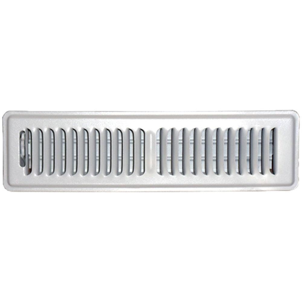 2 in. x 12 in. Floor Vent Register, White with 2-Way