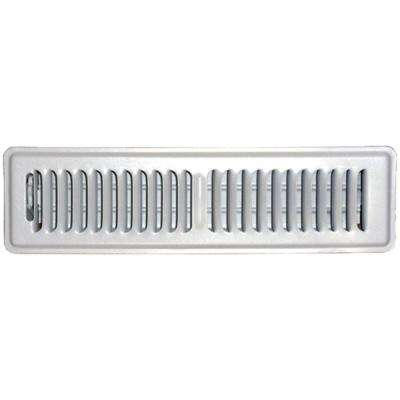 2 in. x 12 in. Floor Vent Register, White with 2-Way Deflection