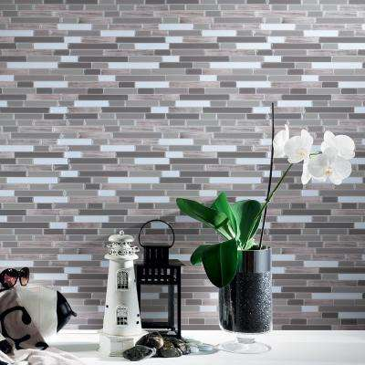 12 in. x 12 in. Peel and Stick Vinyl Backsplash Tile in Long Stone Design (6-Pack)