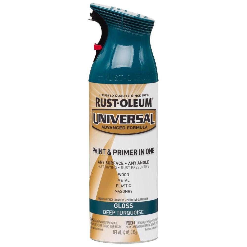Quick Color 10 oz. Flat Black General Purpose Aerosol Paint-J2853812 ...