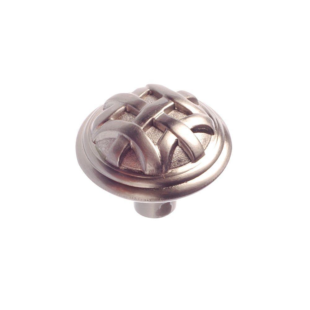 1-1/4 in. Brushed-Nickel Cabinet Knob