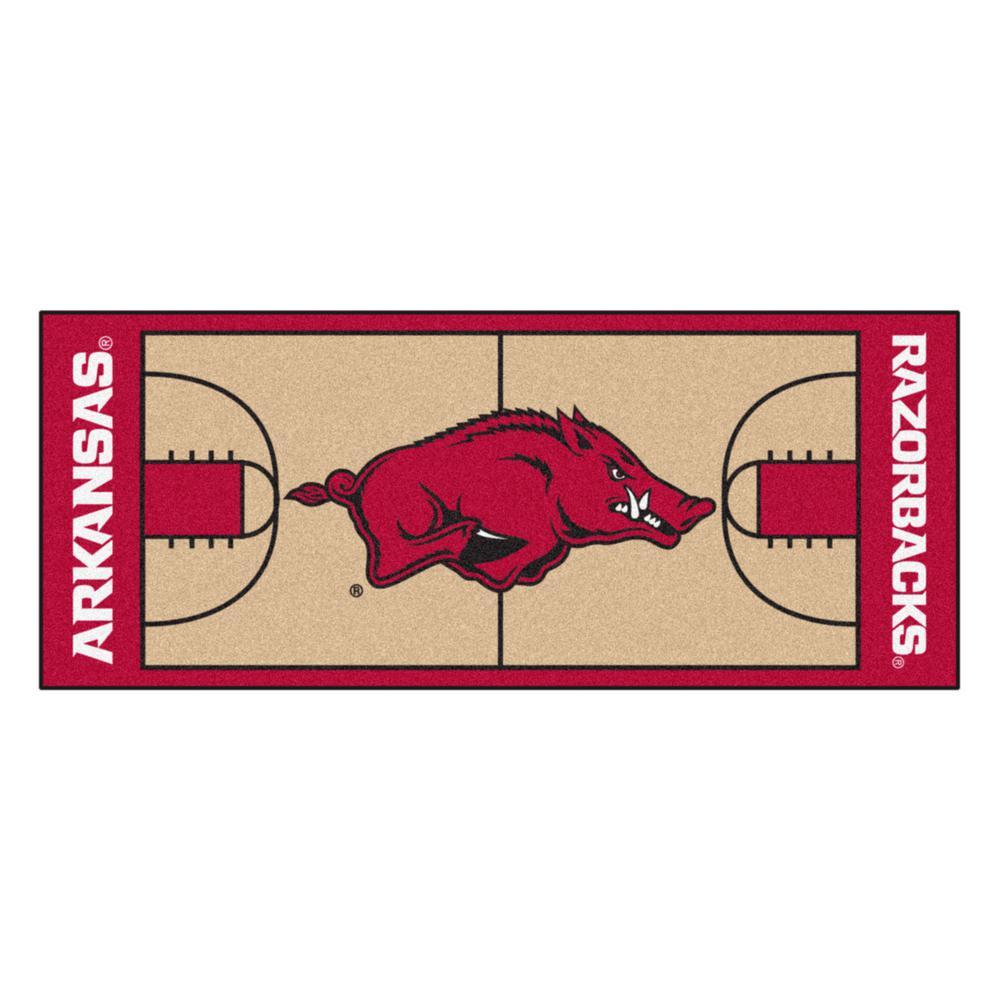 University of Arkansas 3 ft. x 6 ft. Basketball Court Runner Rug