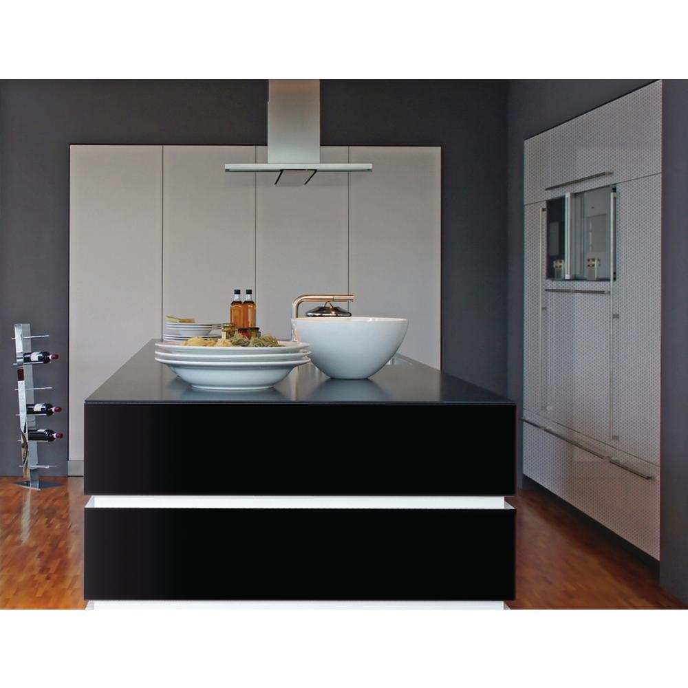 17 in. x 78 in. Gloss Black Home Decor Self-Adhesive Film