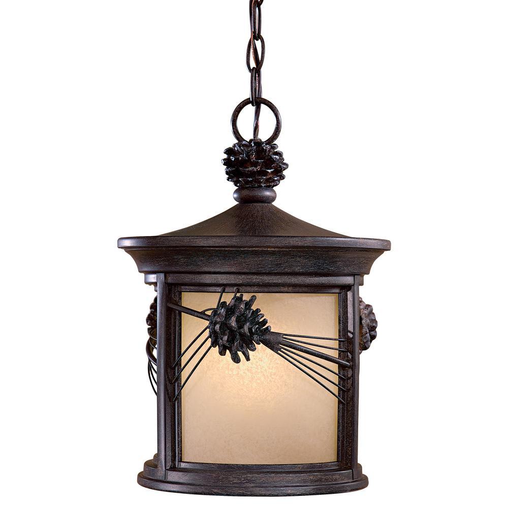 Abbey Lane Iron Oxide 1-Light Outdoor Hanging Lantern