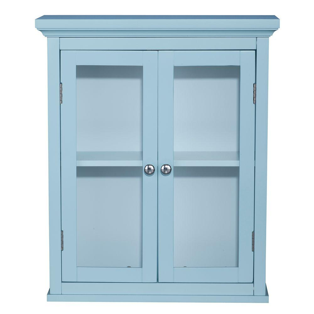 null Hamlot 24 in. H x 20 in. W x 7 in. D Wall Cabinet in Blue Color-DISCONTINUED