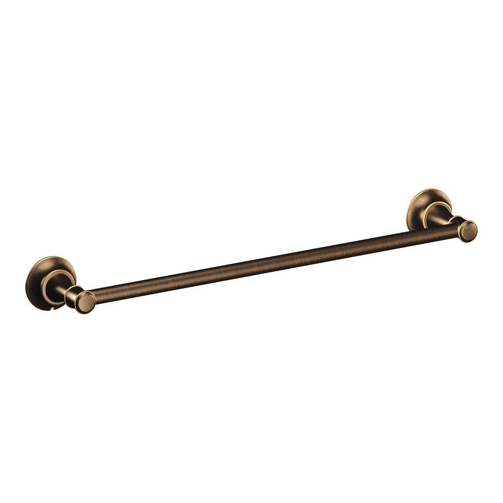 MOEN Ashville 24 in. Towel Bar in Mediterranean Bronze