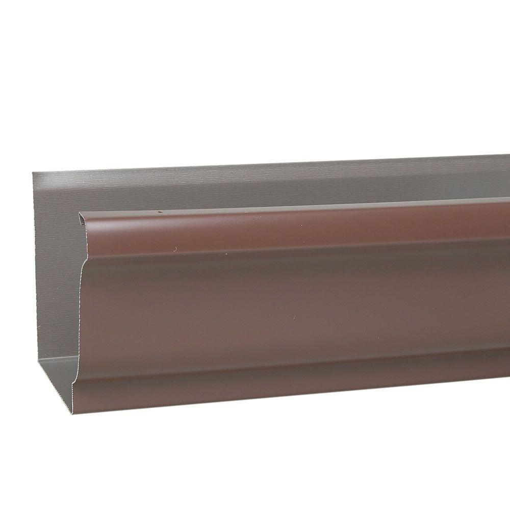 5 in. x 16 ft. Musket Brown Aluminum Gutter