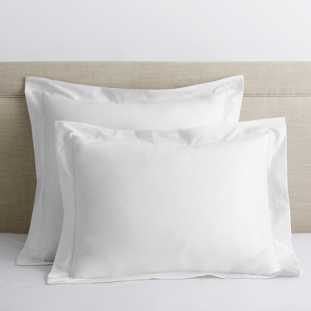 Legends Luxury Solid White 500 Thread Count Cotton Sateen King Sham