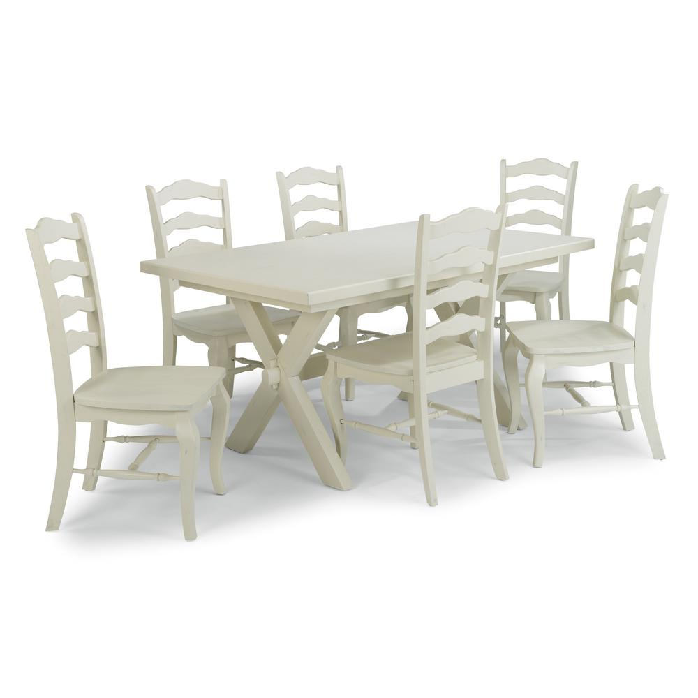 Home Styles Seaside Lodge 7 Piece White Dining Set