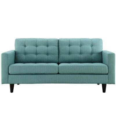 Empress 72.5 in. Laguna Polyester 2-Seater Loveseat with Removable Cushions