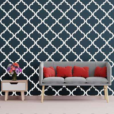 3/8 in. x 15-3/4 in. x 15-3/4 in. Medium Marrakesh White Architectural Grade PVC Decorative Wall Panels
