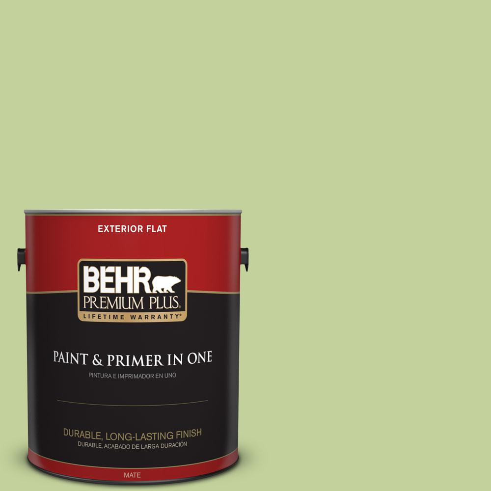 1-gal. #P370-4 Cricket Field Flat Exterior Paint