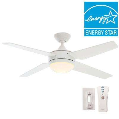 Sonic 52 in. Indoor White Ceiling Fan with Universal Remote