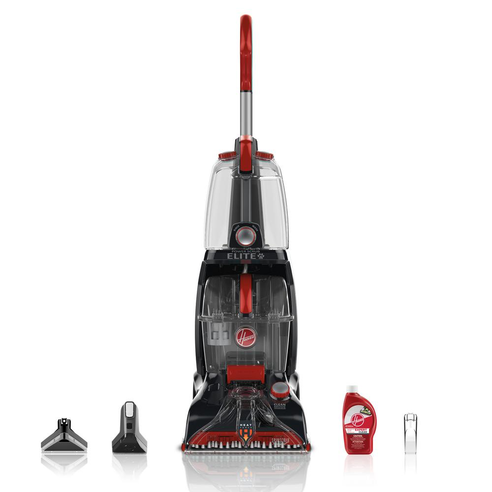 Hoover Power Scrub Elite Pet Plus Upright Carpet Cleaner FH50252   The Home  Depot