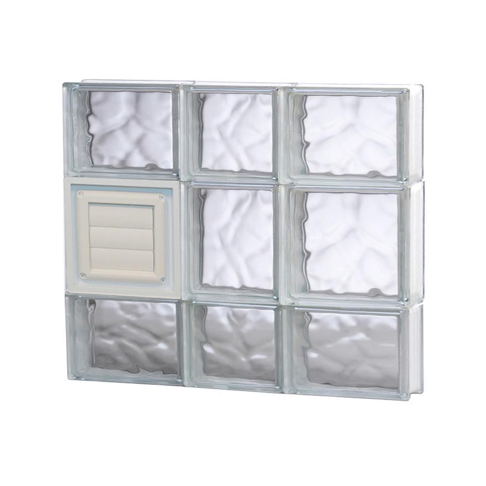 Clearly secure in x in x in frameless for Glass block windows prices