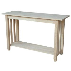 48 in. Unfinished Standard Rectangle Wood Console Table with Storage