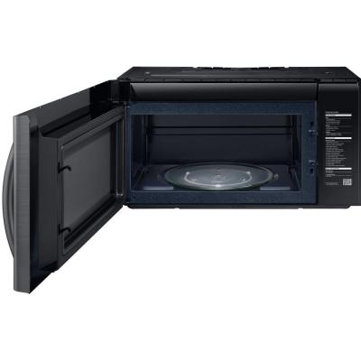 2.1 cu. ft. Over the Range PowerGrill Microwave with Sensor Cook in Fingerprint Resistant Black Stainless