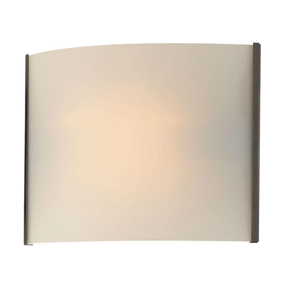 Pannelli 1-Light Oil Rubbed Bronze Vanity Light with Hand-Moulded White Opal