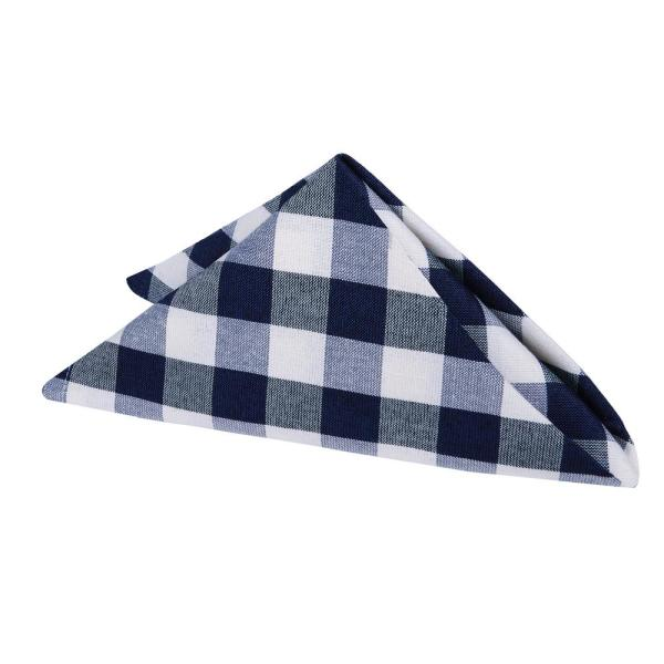 Buffalo Check 17 in. W x 17 in. H Navy Checkered Polyester/Cotton Napkins (Set of 4)