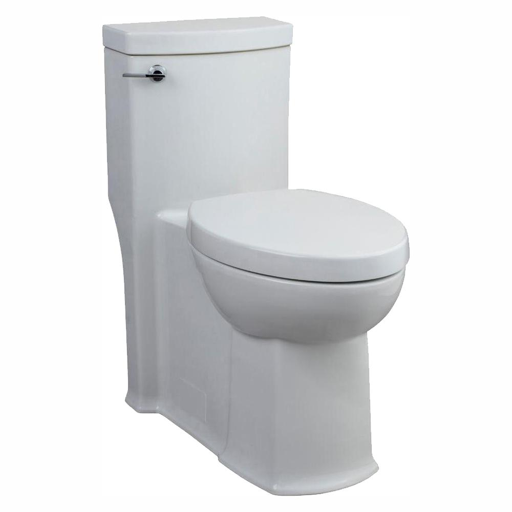 American Standard Boulevard FloWise Tall Height 1-Piece 1.28 GPF Single Flush Elongated Toilet with Concealed Trap-Way in White