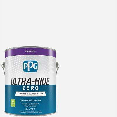 Ppg Ultra Hide Zero 1 Gal Pure White Base 1 Eggshell Paint 1400 0100 01 The Home Depot