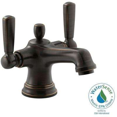 Bancroft Monoblock Single Hole 2-Handle Mid-Arc Bathroom Faucet with Metal Lever Handle in Oil-Rubbed Bronze