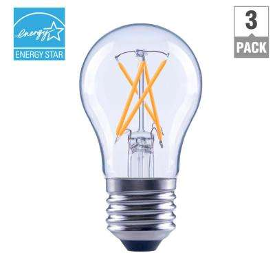 40-Watt Equivalent A15 Dimmable Clear Filament LED Light Bulb, Soft White (3-Pack)
