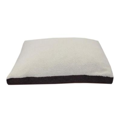 Medium-Large Brown Sherpa Checkered Gusset Dogs Bed
